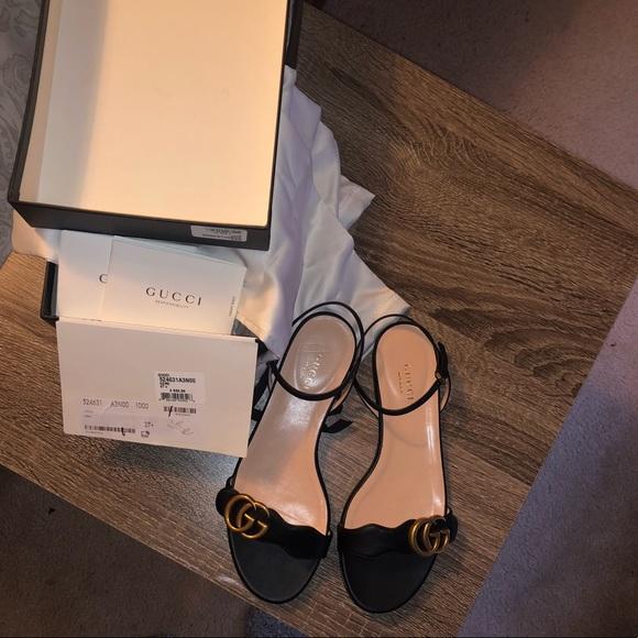 Gucci Leather Sandal Mormont Doubleg